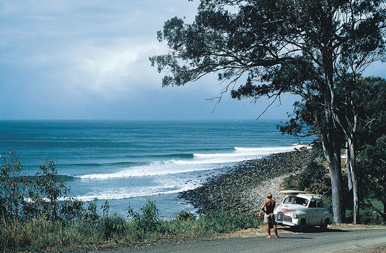 Bob McTavish and the '48 Holden, Noosa - 1966